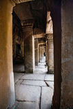 Corridor of the ruin temple of Ta Phrom , Angkor Wat, Cambodia Royalty Free Stock Photography
