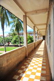 Corridor of S21 Tuol Sleng Genocide Museum Royalty Free Stock Photography