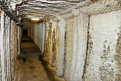 Corridor in salt mine. Royalty Free Stock Photos