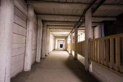 Corridor in salt mine Royalty Free Stock Photography
