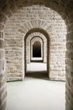 Corridor with several arches Royalty Free Stock Photos