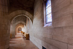 Corridor in St Johns church. Stock Photo