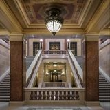 Corridor within Staircase at Wisconsin State Capitol Royalty Free Stock Images
