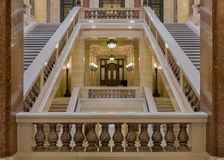 Corridor within Staircase at Wisconsin State Capitol Royalty Free Stock Image