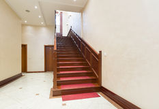 Corridor with stairs - hotel interior.  Stock Image