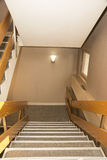Corridor with stairs into hotel Stock Image