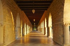 The corridor in Stanford University Royalty Free Stock Photos