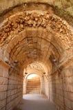 Corridor of stone Royalty Free Stock Image