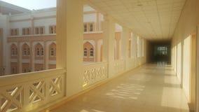 A corridor on a sunny morning royalty free stock photos