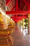 Corridor of the temple Royalty Free Stock Photos