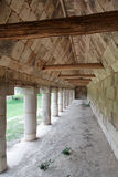 Corridor in a Temple of Uxmal Yucatan Mexico Stock Photo