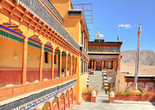 Corridor of Thiksey Gompa Royalty Free Stock Image