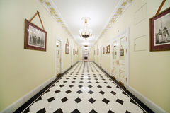 Corridor to Fireplace hall of Guest extension Royalty Free Stock Photo
