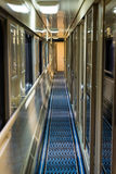 Corridor to the sleeping car trains Royalty Free Stock Photography