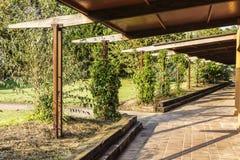Corridor to a tourist apartments Stock Photo