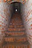 Corridor to the tower of a medieval castle. Stairs to the tower of a medieval castle Royalty Free Stock Photo