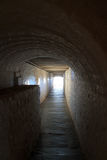 Corridor to wine cellar. Tunnel like corridor to wine cellar 1700s Royalty Free Stock Images