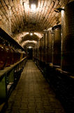 Corridor in traditional wine cellar Royalty Free Stock Photography