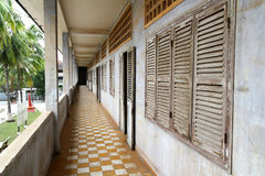 Corridor at Tuol Sleng Genocide Museum Stock Photo