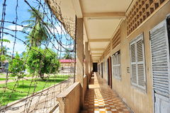 Corridor of Tuol Sleng Genocide Museum in Cambodia Royalty Free Stock Image