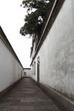The corridor between the two walls Stock Photography