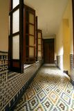 Corridor of a typical riad (guesthouse). Morocco Stock Photo