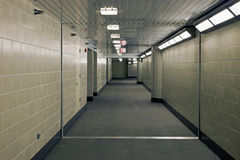 Corridor in underground garrage Royalty Free Stock Image