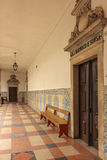 Corridor at the University. Coimbra . Portugal Royalty Free Stock Images