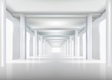 Corridor. Vector illustration. Royalty Free Stock Photo