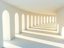Corridor in warm tones Stock Photography