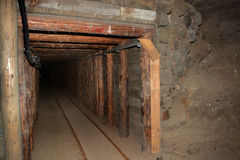Corridor in Wieliczka Salt Mine Royalty Free Stock Photos