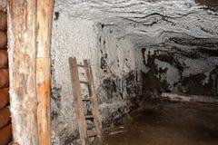 Corridor in Wieliczka Salt Mine. Stock Photos