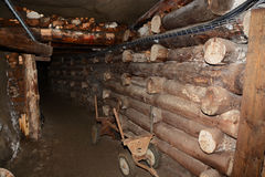 Corridor in Wieliczka Salt Mine. Royalty Free Stock Image
