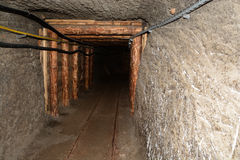 Corridor in Wieliczka Salt Mine. Royalty Free Stock Photos