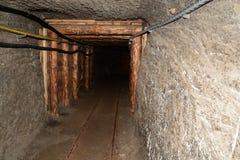 Corridor in Wieliczka Salt Mine. Royalty Free Stock Photos