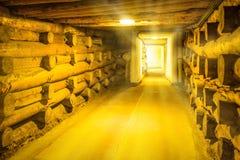 Corridor in Wieliczka Stock Photo