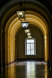 Corridor with window Royalty Free Stock Image