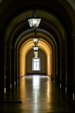 Corridor with window Stock Photos