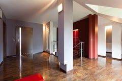 Corridor with wooden floor Stock Photo