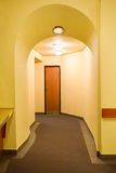 Corridor in yellow Royalty Free Stock Images