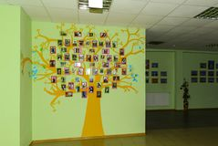 Corridor of Zhytomyr Higher Educational Institution in Ukraine. Royalty Free Stock Photo