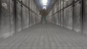 Corridor and zombie Stock Photography