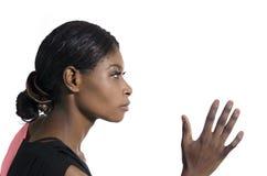 Corridore afroamericano femminile Fotografie Stock Libere da Diritti