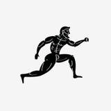 Corridore atletico del greco antico illustrazione vettoriale