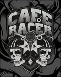 Corridore del caffè del casco di due crani illustrazione vettoriale