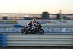 Corridore del motociclo Fotografie Stock