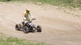 Corridore del motociclo sugli sport ATV durante il compet Immagini Stock Libere da Diritti