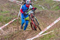 Corridore del mountain bike Immagine Stock