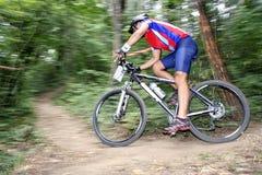Corridore della bici Immagini Stock Libere da Diritti