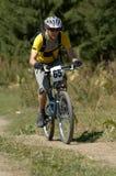 Corridore della bici Fotografia Stock